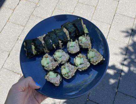 eiwitrijke sushi
